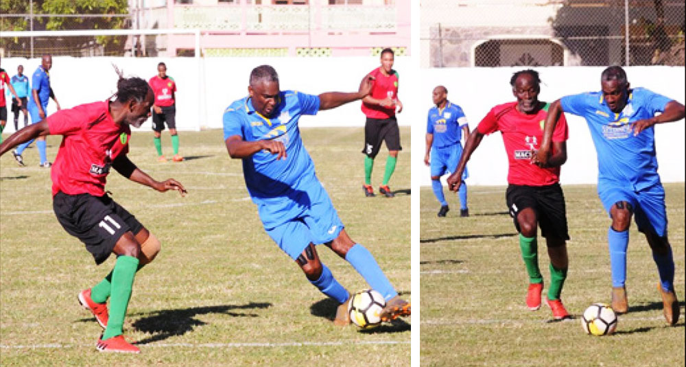 Image: (L-R) Alvin Malaykhan in action against VSADC. (PHOTO: AM)