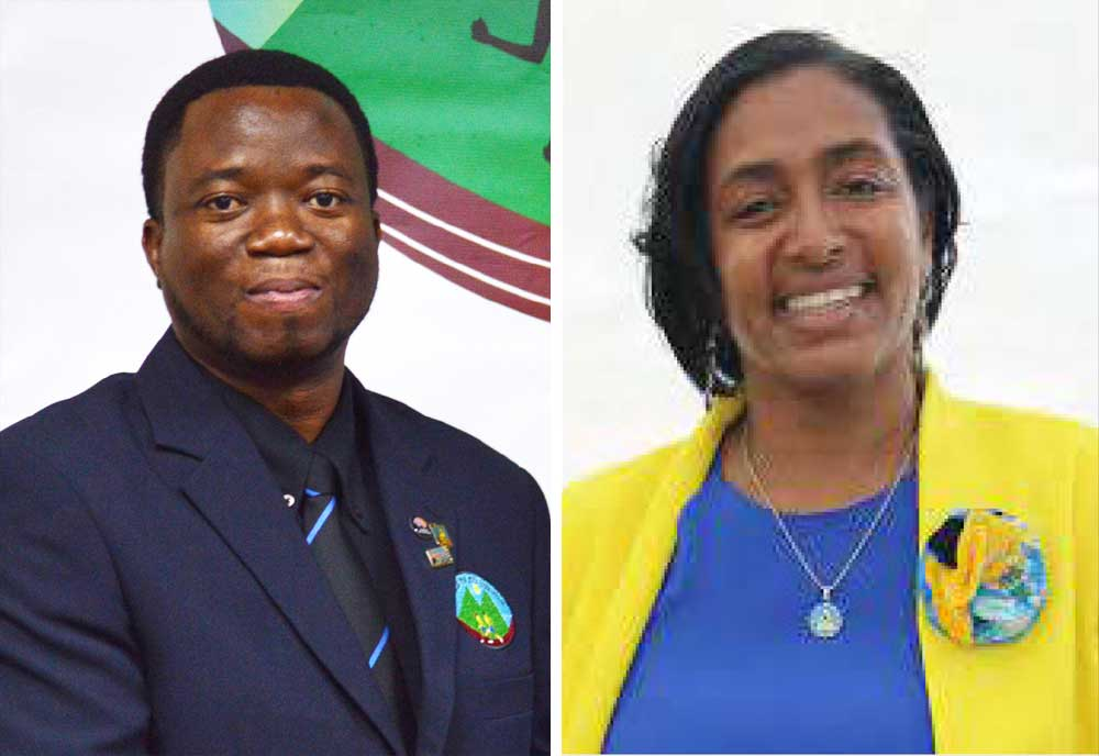 Image: (L-R) ) SLAA President – Cornelius Breen; Nancy Charles who showed some interest has decided to opt out. (PHOTO: (Anthony De Beauville/ NC)