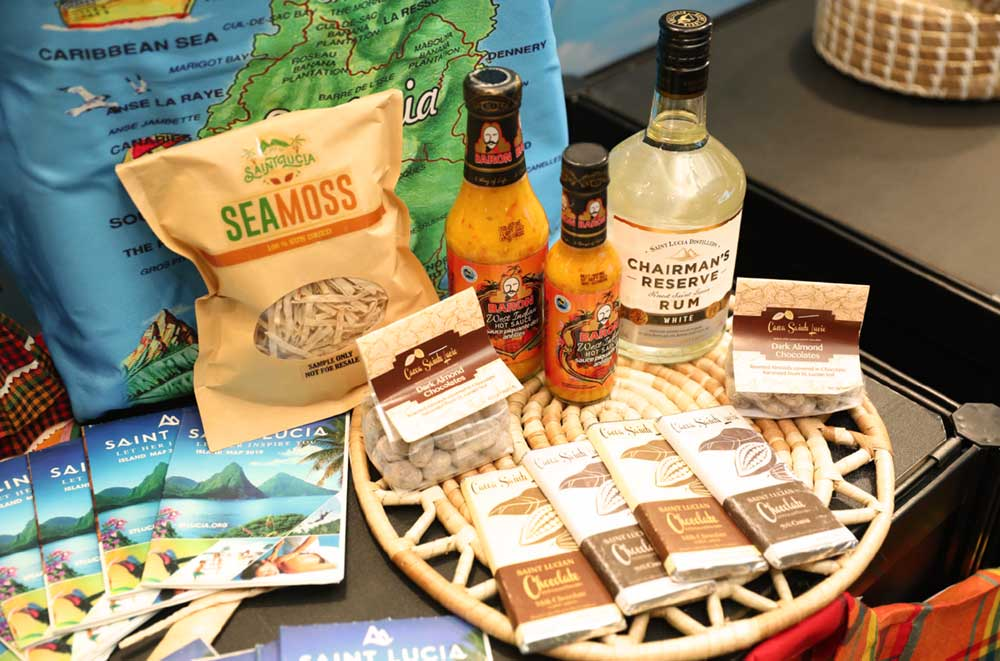 Image of Saint Lucian products on display